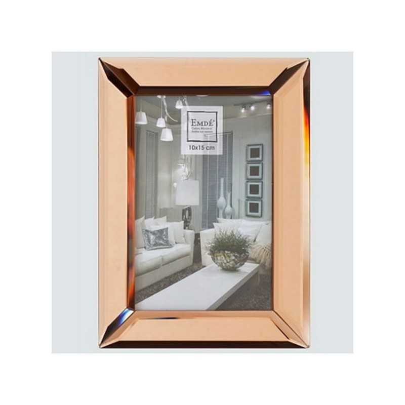 cadre photo verre couleur cuivre rose pour format photo. Black Bedroom Furniture Sets. Home Design Ideas
