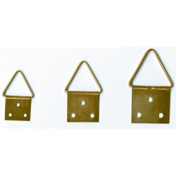 100 Pictures Frame Hooks Hangers Brass Plated Triangle Pins