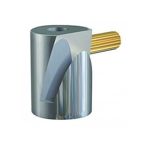 Crochet à tableau cylindrique avec vis laiton