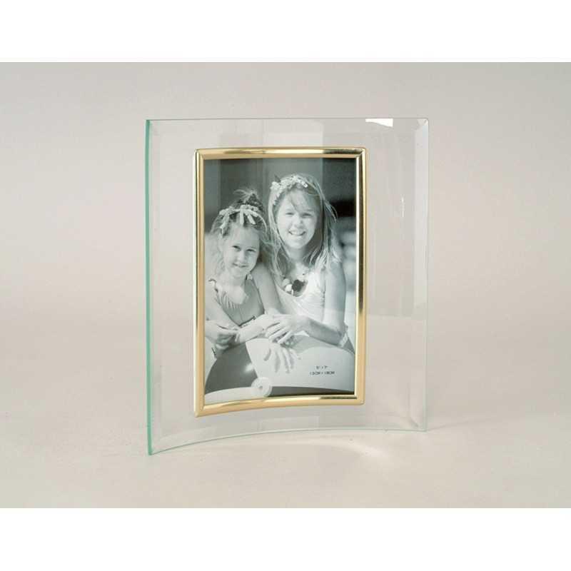 cadre photo en verre galb jonc or photo verticale portrait. Black Bedroom Furniture Sets. Home Design Ideas