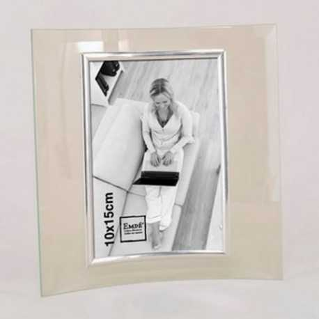 photo frame in curved glass
