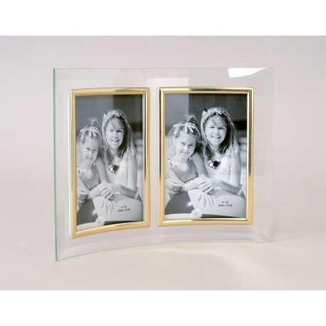 cadre double en verre galbé