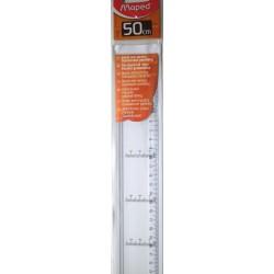 règle 50cm bord anti-tâches avec graduations parallèles