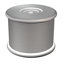 Unwired galvanized steel wire spool