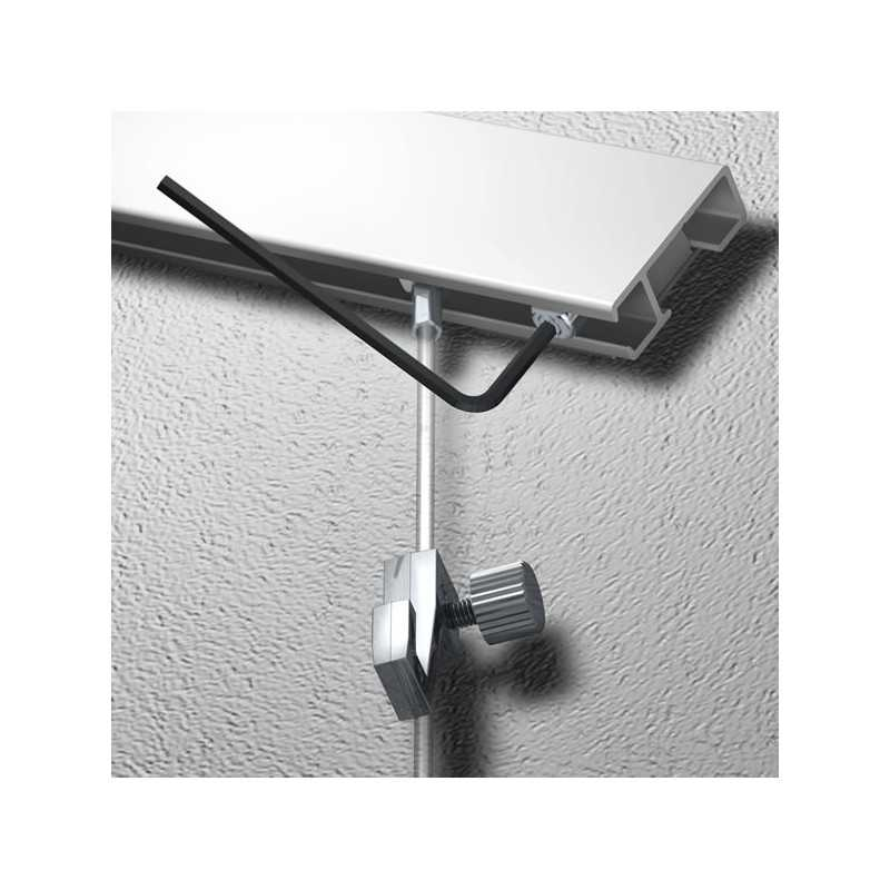 ensemble de suspension pour cimaise pos e inclin e plafond rampant escalier etc. Black Bedroom Furniture Sets. Home Design Ideas