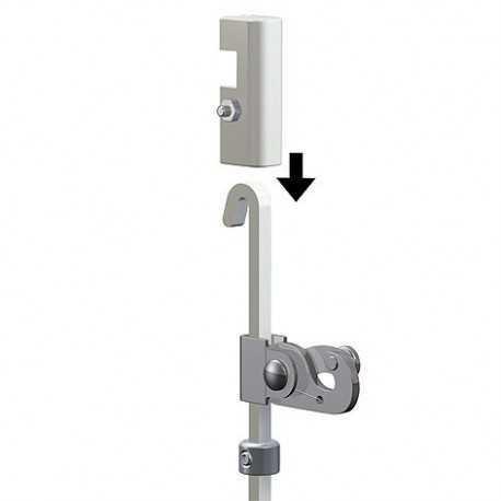 Unité de blocage pour tige de suspension carrée de 4 mm