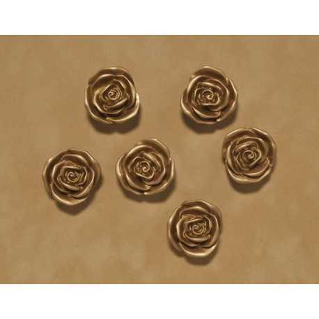 Aimants, magnets forme rose or