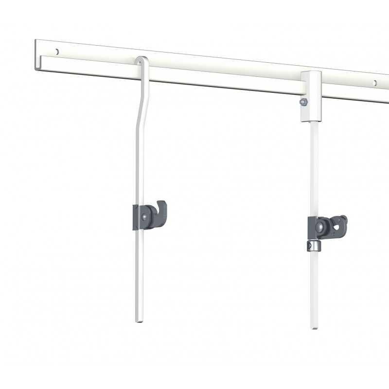 crochet autobloquant en acier pour tige de suspension. Black Bedroom Furniture Sets. Home Design Ideas