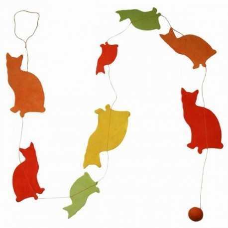 Guirlande chats jaune