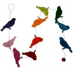 Guirlande d'oiseau multicolor