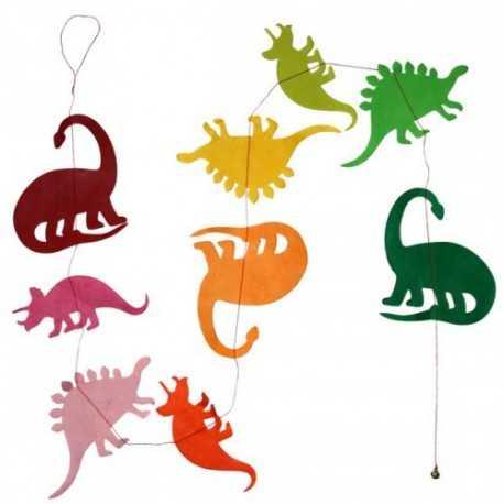 Guirlande Dinosaure multicolor