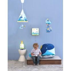 Boîte à lumière pour enfant avec décor : Chambre garçon