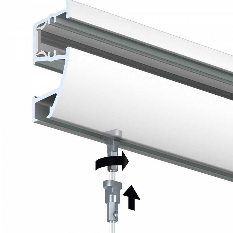 Hanging Rail With Picture Lighting