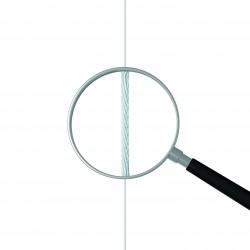Câble acier avec Twister 1 mm pour suspension tableau
