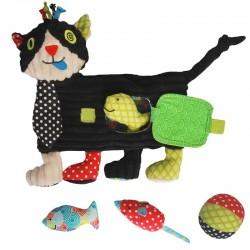 Chat d'activités, de jeu avec CHARLOS le chat