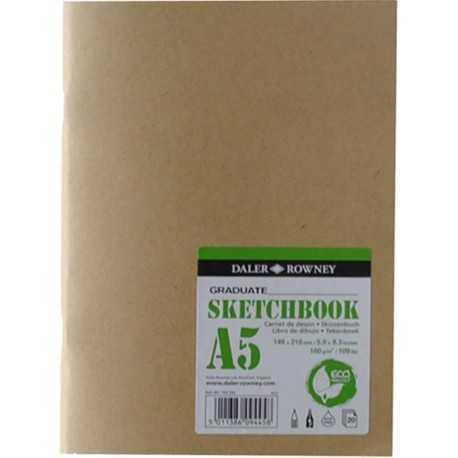 Carnet de dessin 20 feuilles agrafées couverture éco souple A5