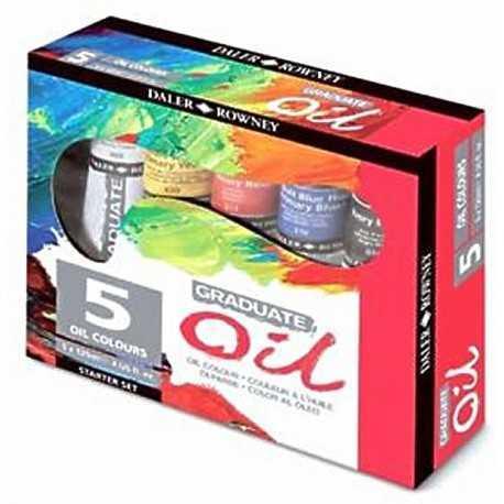 Set de 5 tubes de peinture à l'huile de 120ml