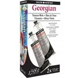 2 tubes de peinture à l'huile Georgian Blanc de titane