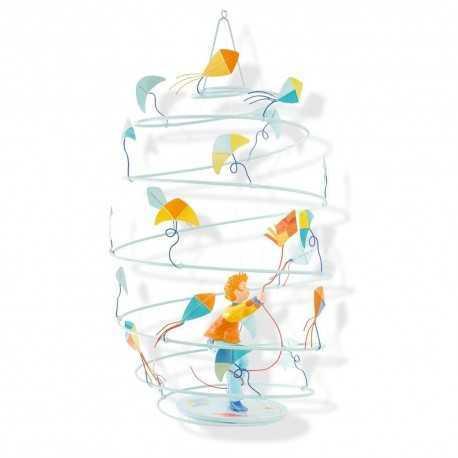 Les spirales, mobile, suspension pour enfant GARCON CERF-VOLANT