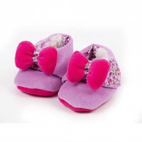 Les tchikis chaussons bébé, nouveau né, motif petite fraise