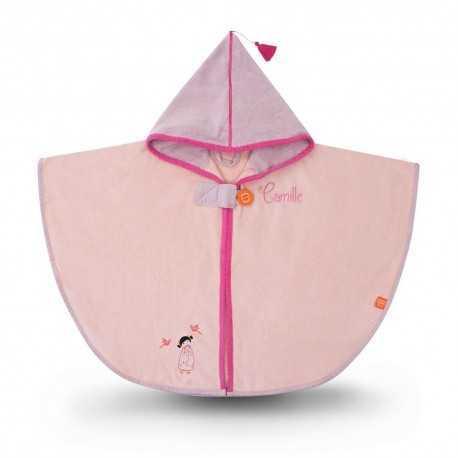 Cape de bain à broder pour enfant, tonkinoise rose