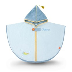 Personalized bath cape, embroidered