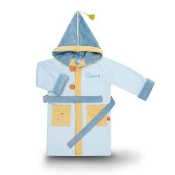 Peignoir personnalisé pour enfant de 4 à 6 ans, Dragon bleu