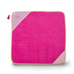 Carré de bain personnalisé pour bébé, nouveau né couleur fuchsia / mauve