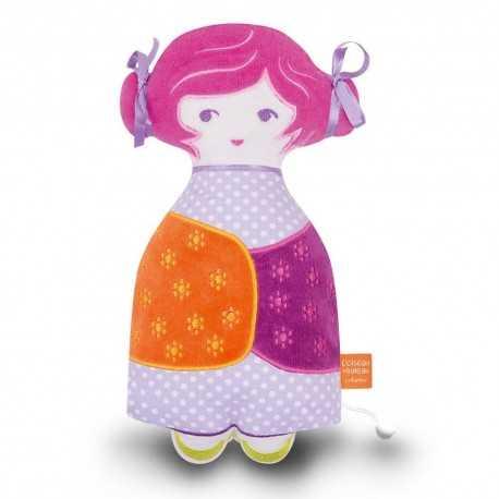 Tchikiboum, doudou musical, poupée musicale Rosalie