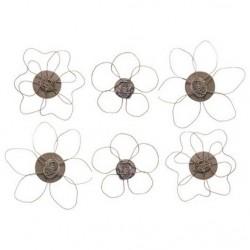 Sachet de 6 magnets fleurs