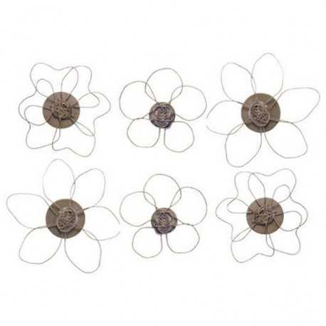 Set of 6 flowers shaped magnets