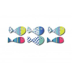 6 fish magnets