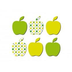 Sachet de 6 magnets pommes vertes