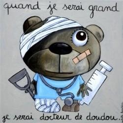 """Tableau """"Docteur de doudou"""""""
