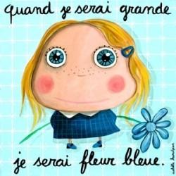"""Tableau """"Fleur bleue"""""""