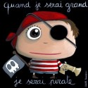 "Tableau ""Pirate"" quand je serai grand je serai pirate"