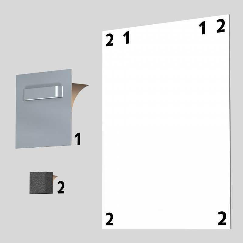 10 supports mural pour plaques dibond. Black Bedroom Furniture Sets. Home Design Ideas