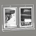 Cadre photo en métal 2 vues pivotantes format 10x15
