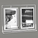 Metal photo frame 2 pivoting views 10x15