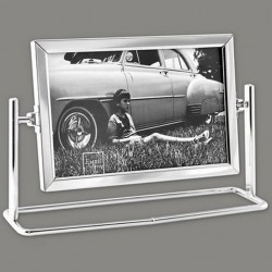 Cadre photo en métal 1 vue 10x15 pivotante