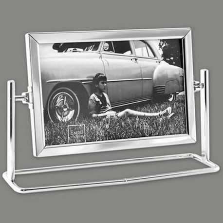 cadre photo pivotant en m tal pour une ou plusieurs vues 10x15 cm. Black Bedroom Furniture Sets. Home Design Ideas