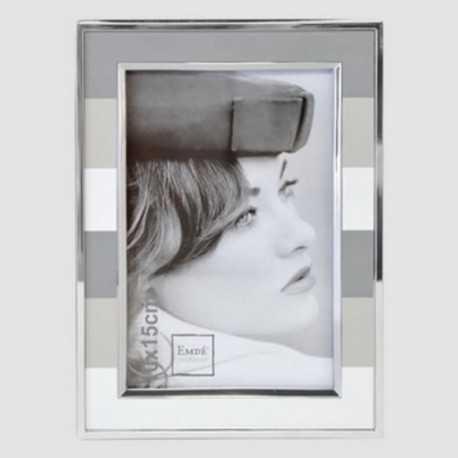 Cadre photo bandes grises