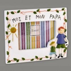 """Cadre photo garçon """"mon papa et moi"""""""