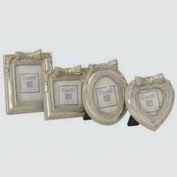 Set of 4 silver color picture frames