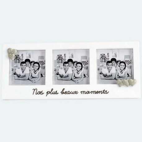 Cadre photo pour 3 photos 10 x 10 cm