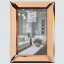 Pink copper color photo frame