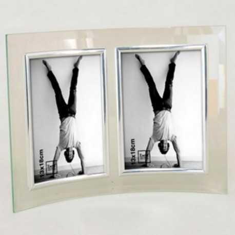 Cadre photo en verre galbé 13x 18 cm