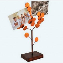 Pink copper metal photo tree