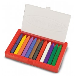 Boite de 12 crayons de cire pour enfants