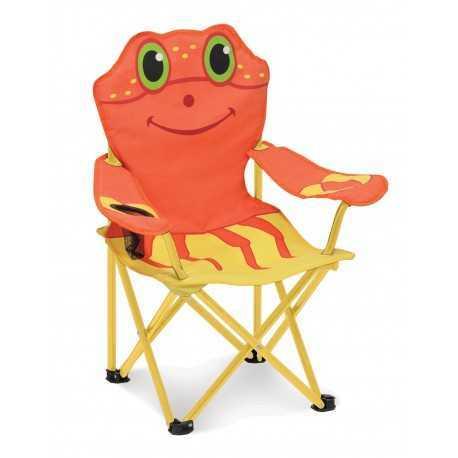 Chaise pliable pour enfant décor crabe